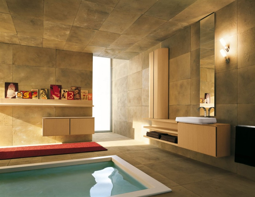 Best Kitchen Gallery: 50 Modern Bathrooms Gawe Omah Design of Bathroom Designs With Pool House on rachelxblog.com