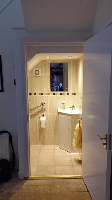 Bedroom To Bathroom Conversions Turning A Bedroom Into A Bathroom   Under Stair Toilet Design   Toilet Separate   Small   Powder Room   Down   Minimalist