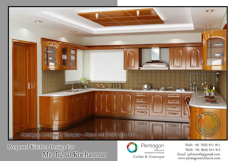 Traditional Wooden Style Kitchen Interior Design