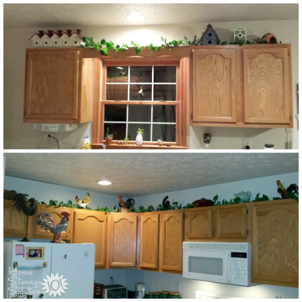 Decorating Above Kitchen Cabinets  Ideas   Tips Ideas for decorating above kitchen cabinets in your home  on Home Storage  Solutions 101