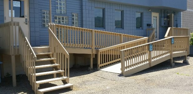 Installing Wheelchair Ramps General Info Tips Local Pros | Handicap Rails For Steps | Deck | Wheelchair Ramp | Activated Led | Adjustable Height | Bed