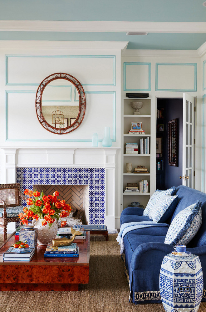 Blue And White Beach House Design Home Bunch Interior
