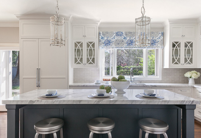 Classic White Kitchen With Grey Backsplash Home Bunch