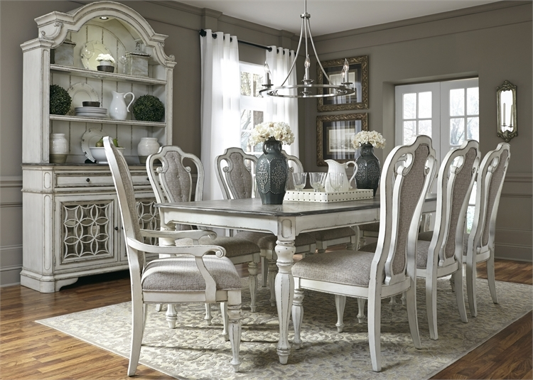 Magnolia Manor Counter Height Table 5 Piece Dining Set In