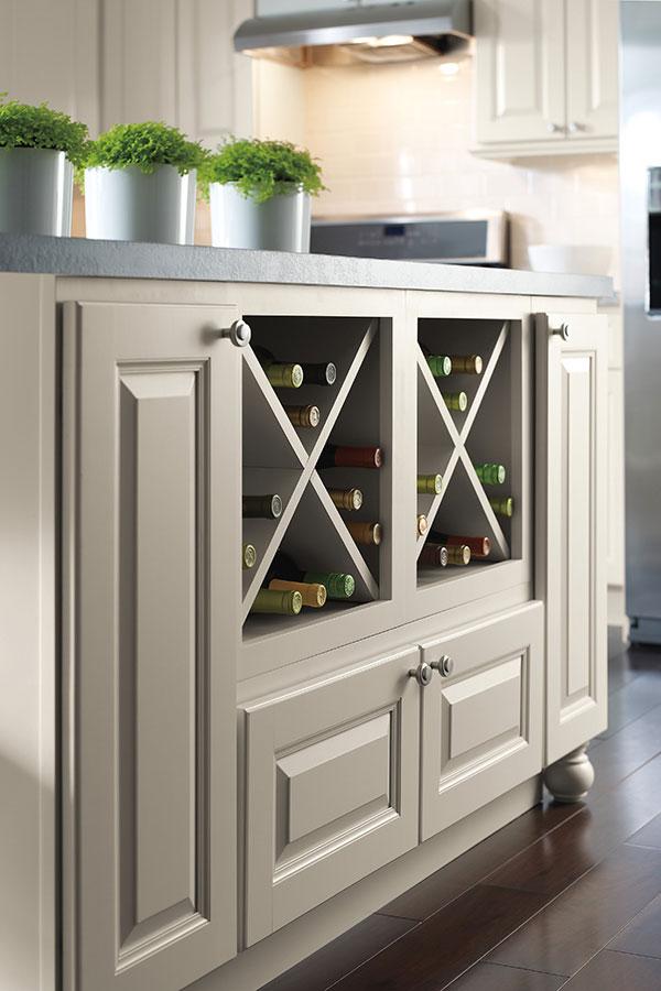 Wine Storage Cabinet Homecrest Cabinetry