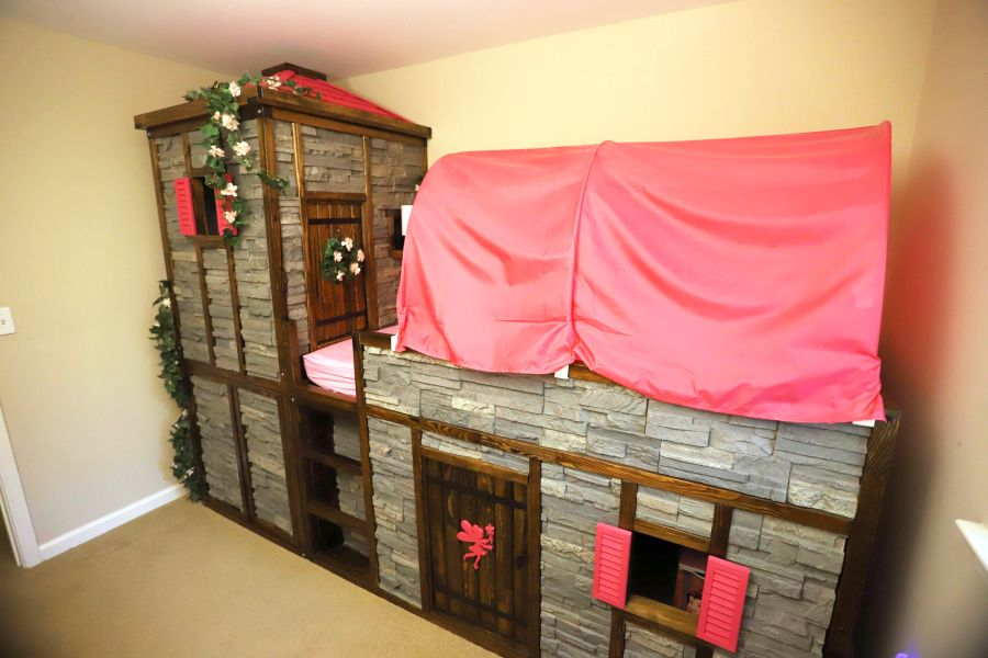 Dad Creates Castle Bed For His Daughter From Ikea Kura Beds