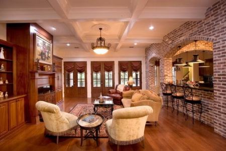 How to Make the Right Country Style Room with Brown Walls   Home     Country Style Room