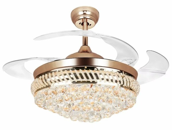 crystal chandelier with fan # 37
