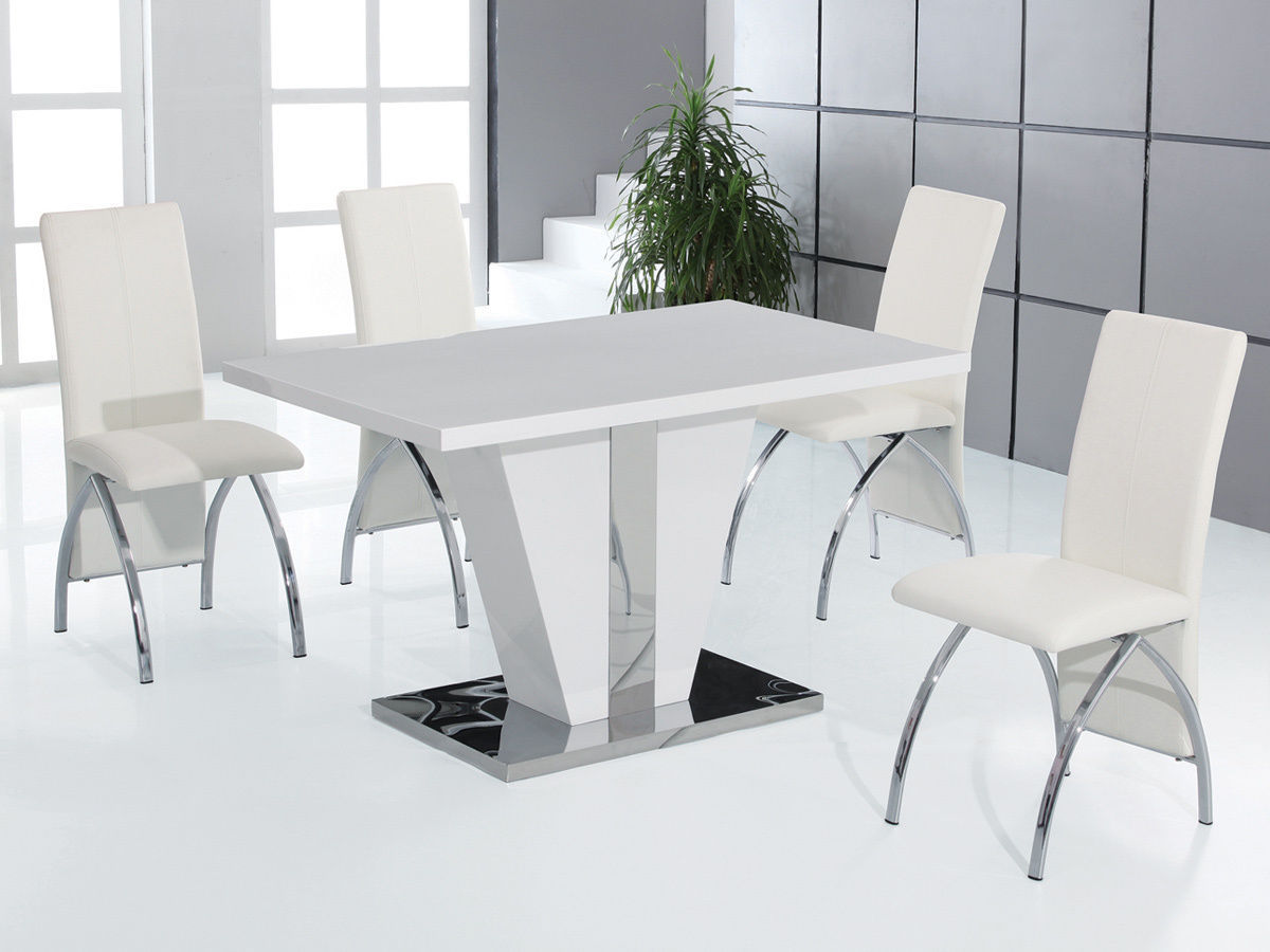 High Table And Chairs Dining Set