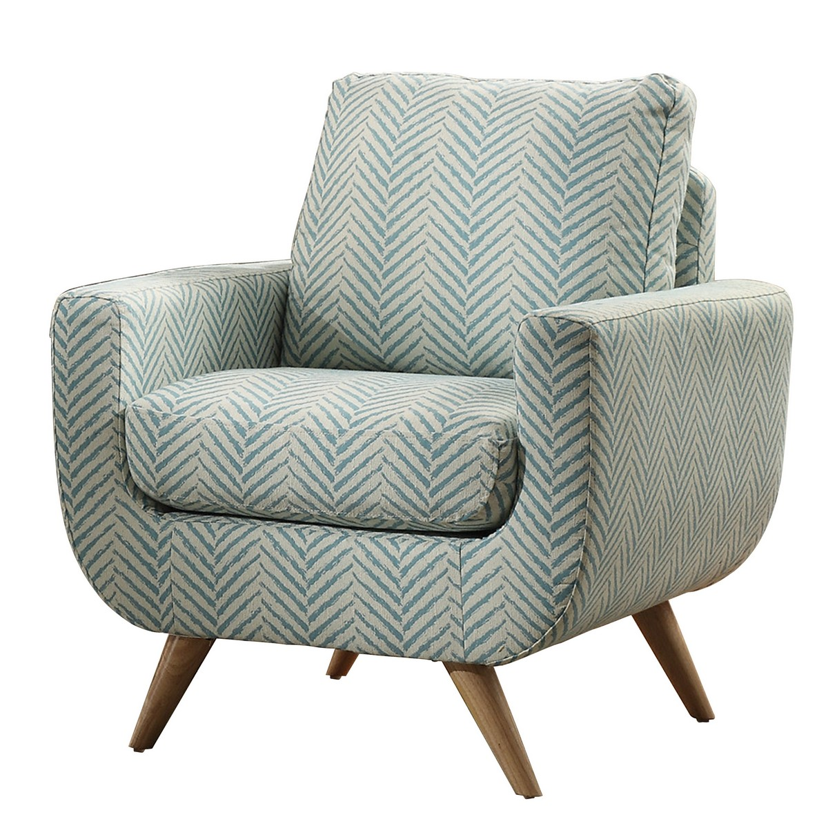 Teal And Grey Accent Chair