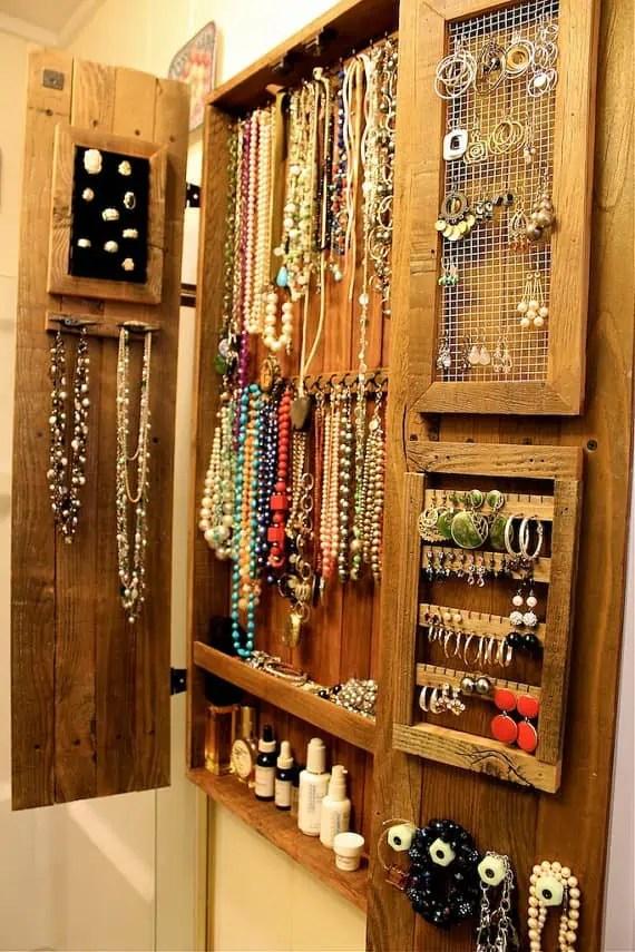 Dressing Mirror Jewelry Armoire