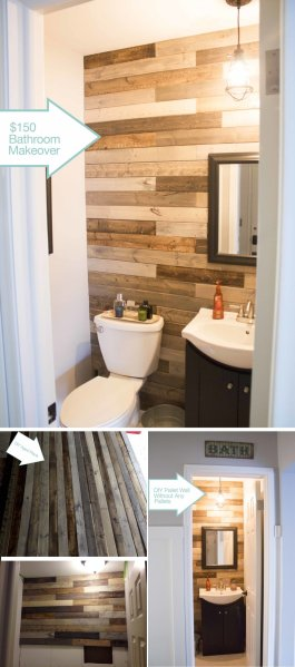 15 Beautiful Wood Accent Wall Ideas to Upgrade Your Space   Homelovr Panel Bathroom Accent Wall