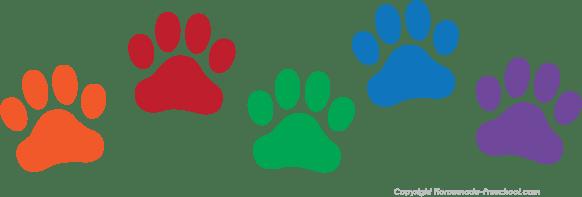 Blue Dog Paw Print Background