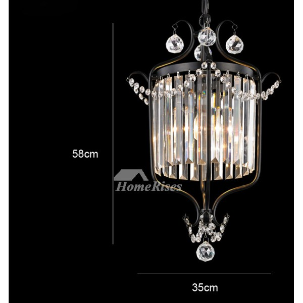 small black crystal chandelier # 17