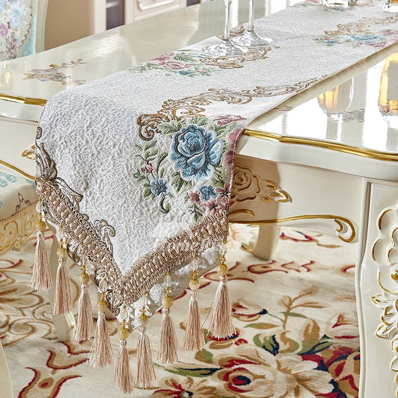 Living Room Coffee European Luxury Tablecloth Jacquard