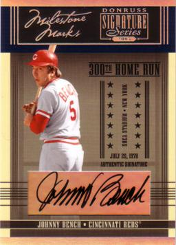 Johnny Bench Autograph Baseball Card