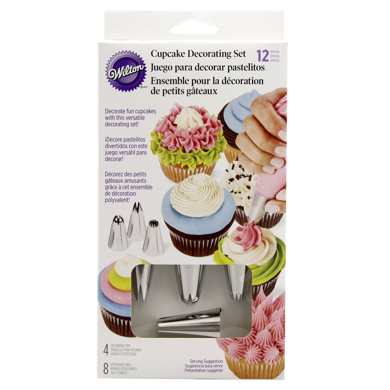 Wilton Cupcake Decorating Kit 12 Pieces   Home Store   More Wilton Cupcake Decorating Kit 12 Pieces