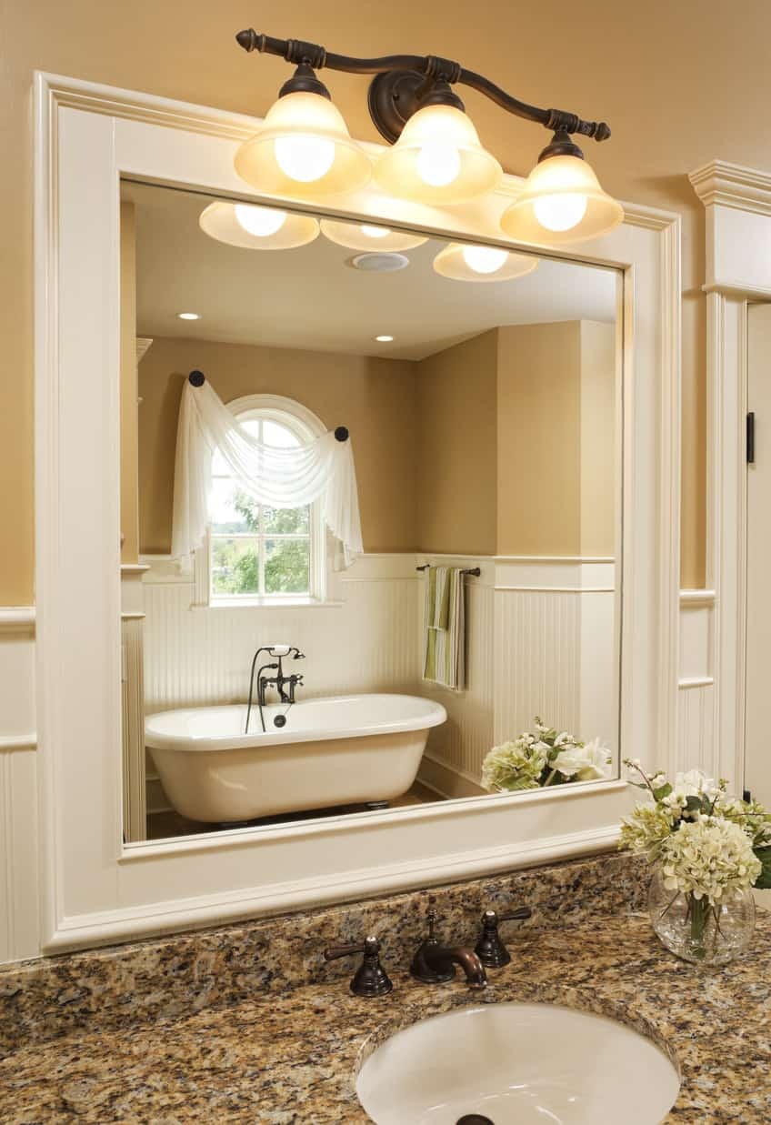 101 Custom Master Bathroom Design Ideas  2018 Photos  Look at that incredible master bathroom bathtub alcove  I love this sort of  design in