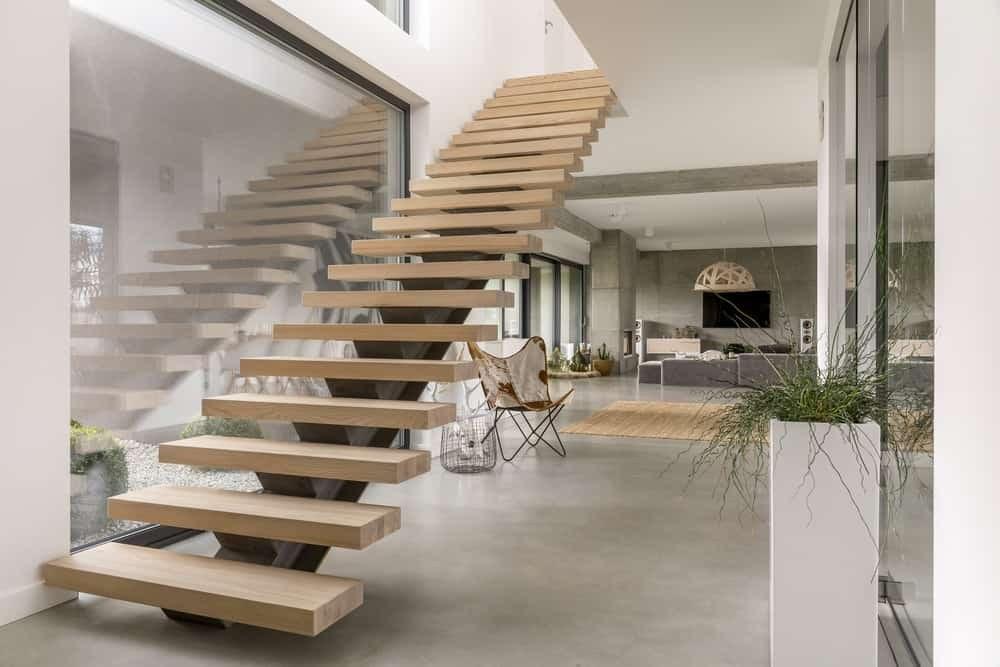 50 Cool Modern Staircase Ideas Photos | Modern Style Stair Railing | Handrail | Art Deco | Rustic Farmhouse | Decorative | Unique Fancy Stair