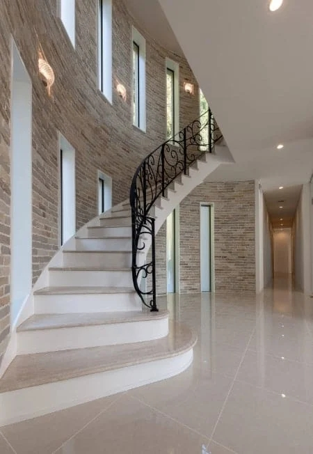 50 Staircases With Tile Flooring Photos | Stairs Floor Tiles Design | Step | Shop | Stair Riser | Wood | Stair Flooring