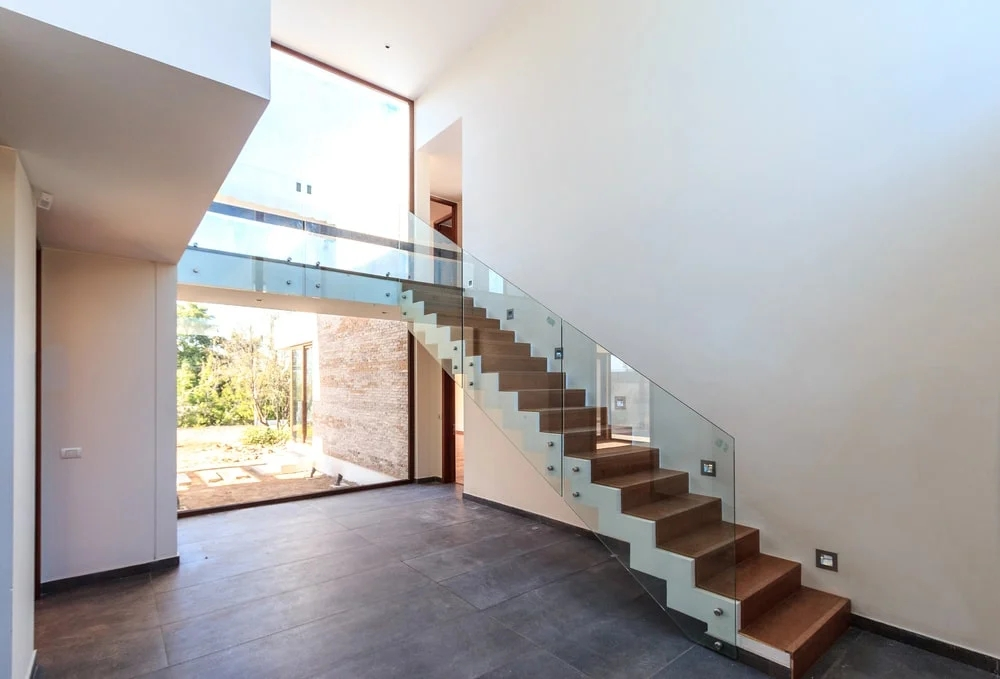 101 Staircase Design Ideas Photos   Glass And Chrome Banisters   Designer   Wooden Glass   Frosted Glass   Oak   Contemporary