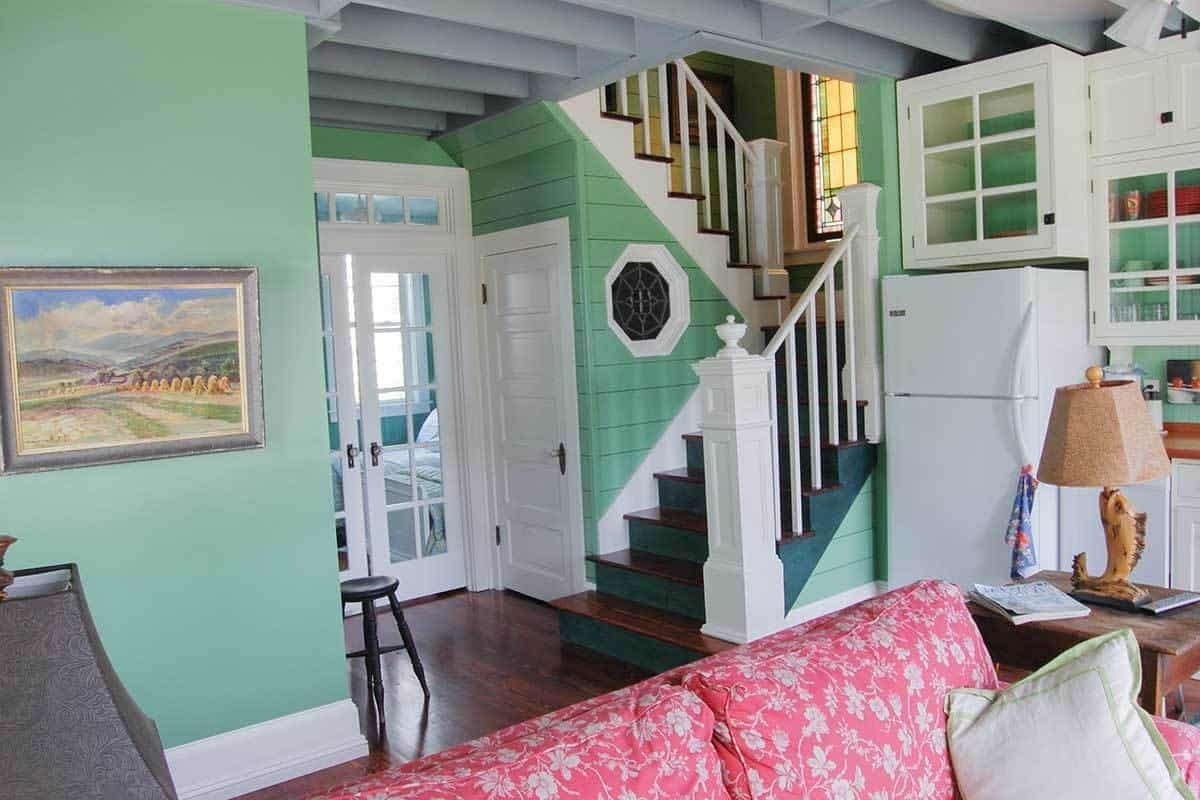 3 Bedroom Two Story Cottage Home With Front And Side Porches | Front Side Staircase Design | Ground Floor Tower | Gallery Photo Indian | Parapet Wall Front | Italian Type House | Residential Stair Tower