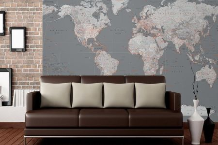 World map wall interior full hd maps locations another world map feature wall wallpaper mural cm detailed silver grey world map feature wall wallpaper mural cm x cm wall mural world map brick wall world maps wall gumiabroncs Choice Image