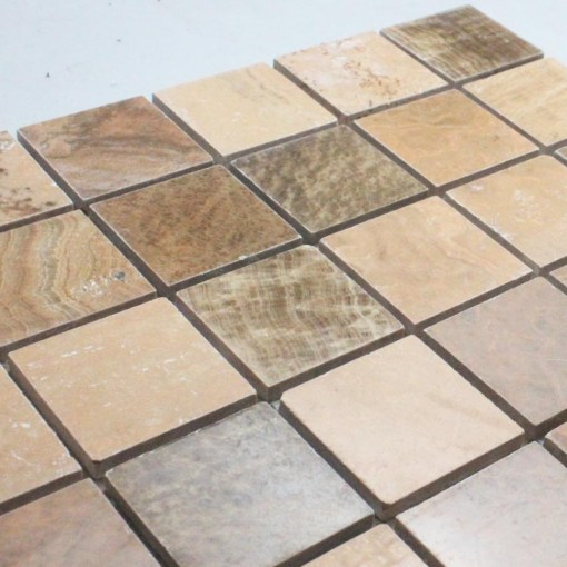 Natural Stone Mosaic Tile Square Brown Patterns Bathroom Wall Marble     Natural Stone Mosaic Tile Square Brown Patterns Bathroom Wall Marble  Kitchen Backsplash Floor Tiles SGS66 48A