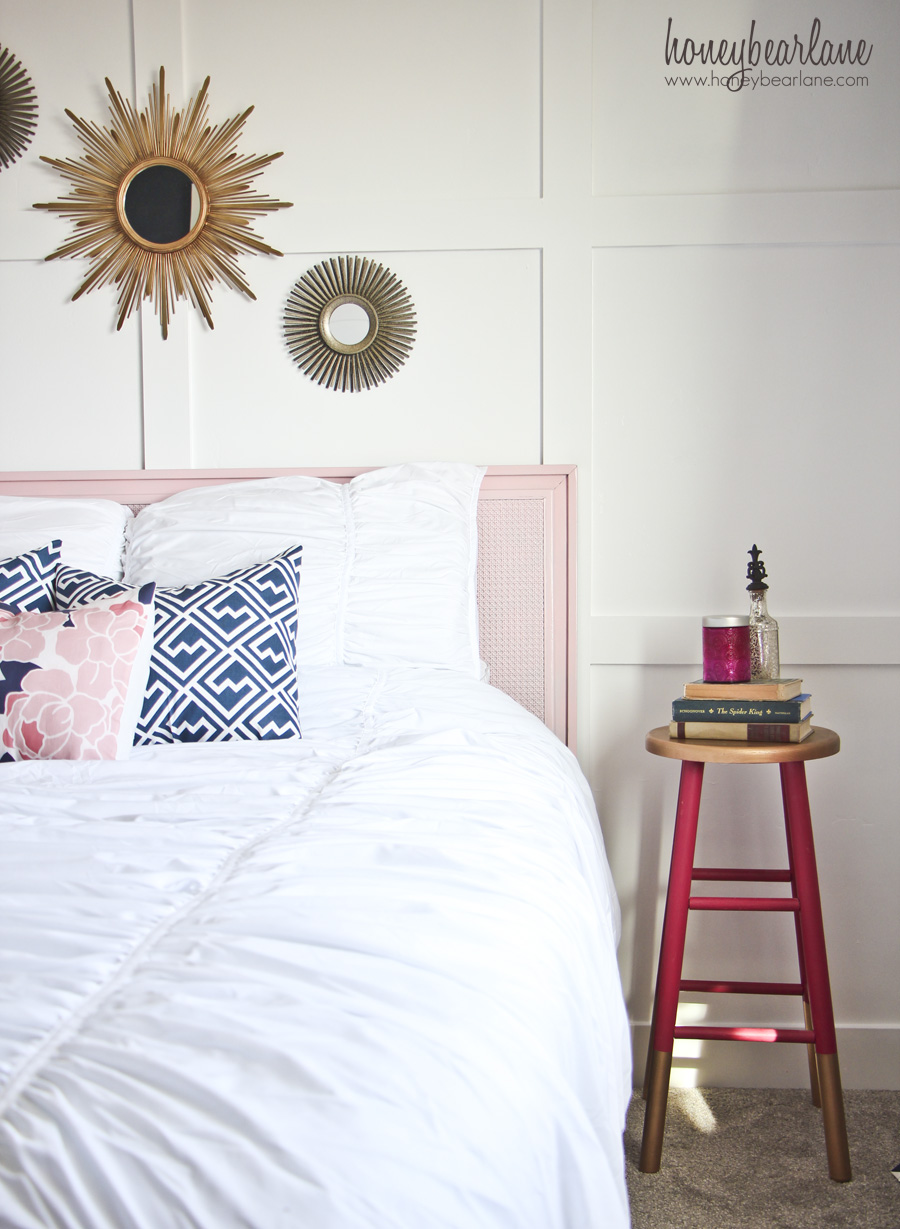 Navy And Pink Guest Room Reveal Honeybear Lane