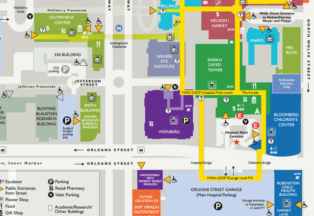 Jhh Campus Map.Johns Hopkins Hospital Campus Map