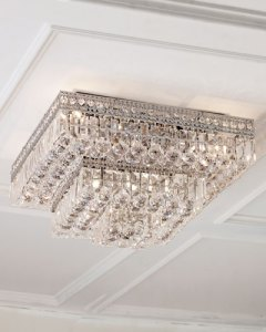 Crystal Ceiling Light Fixture   horchow com Quick Look  prodSelect checkbox  Eight Light Crystal Flush Mount Ceiling  Fixture