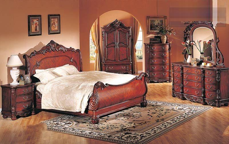 Cherry Queen Size Bedroom Sets