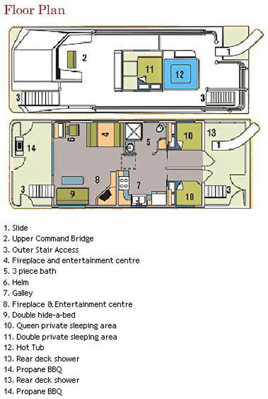 1 Floor House Plan 3 Bath 2 Bed