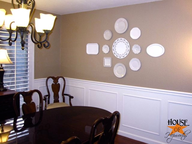 How to make a big statement on an even bigger blank wall  decorating     How to make a big statement on an even bigger blank wall  decorating with  plates    House of Hepworths