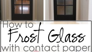 How To FROST GLASS With Contact Paper House Of Hepworths