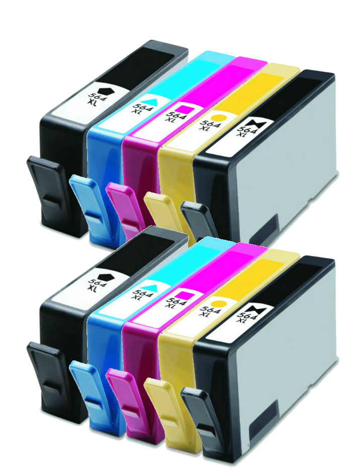 10pk 564 Xl Ink Cartridges For Hp Photosmart 7510 7515