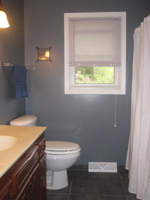 Relaxing Soft Blue Bathroom Color