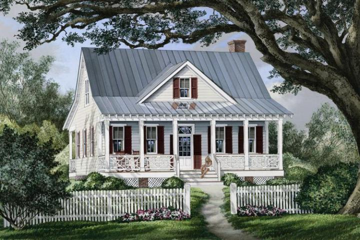 Farmhouse Plan  1 738 Square Feet  3 Bedrooms  2 5 Bathrooms   7922     photo