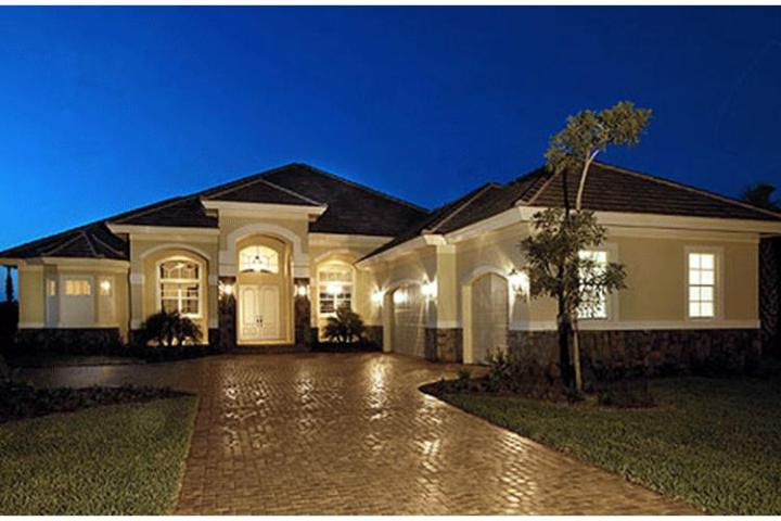 Mediterranean Plan  3 089 Square Feet  3 4 Bedrooms  3 Bathrooms     photo