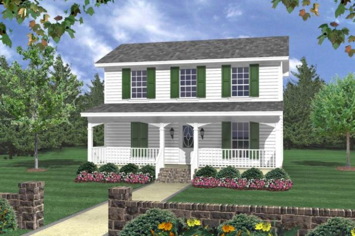 Traditional Plan  1 200 Square Feet  3 Bedrooms  2 Bathrooms   348 00007 photo