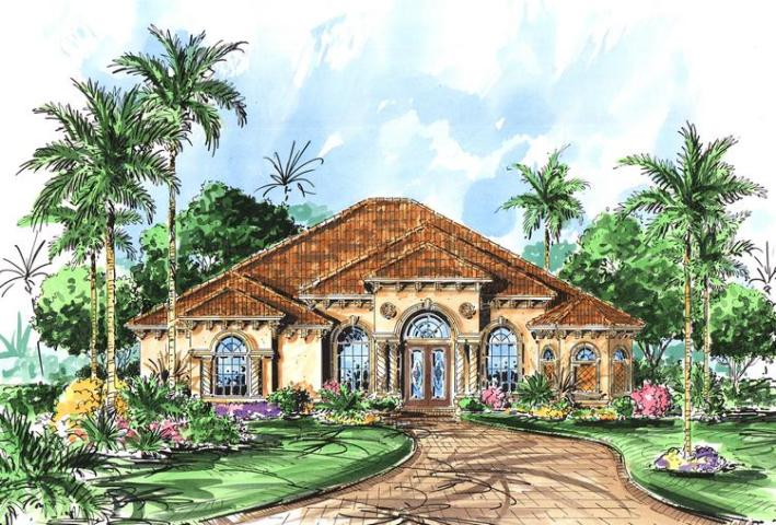 Mediterranean Plan  2 878 Square Feet  3 Bedrooms  3 Bathrooms   575     photo