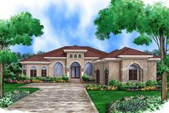 Mediterranean House Plans   Best Home   Floor Plan Designs PLAN5565 00006