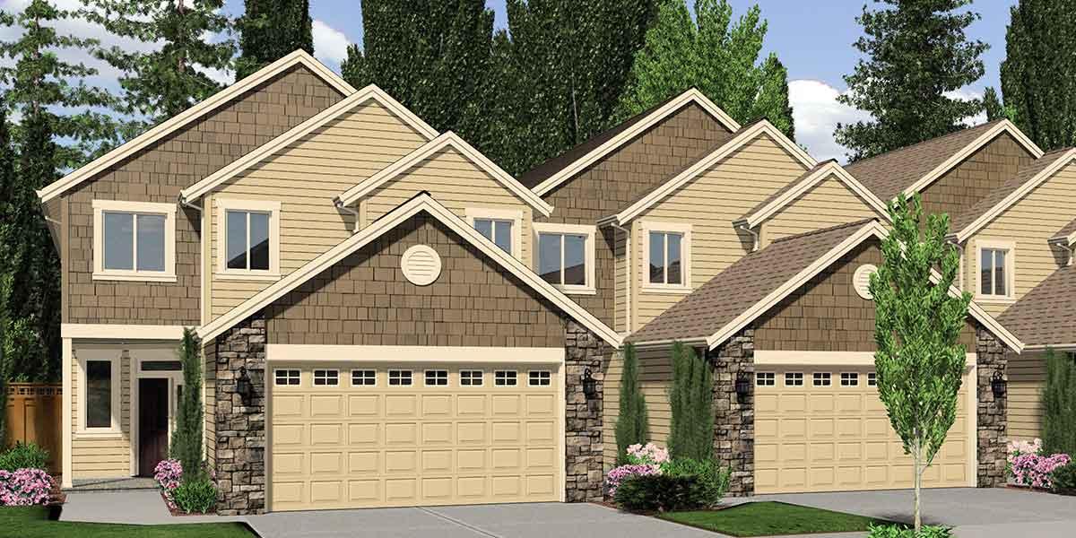 House Plans For Sale Fourplex 4 Plex Quadplex Plans