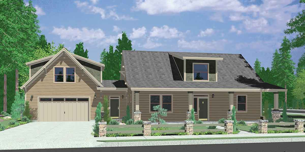 Craftsman House Plans  for Homes Built in Craftsman Style Designs 10142 Country House Plan  Carriage Garage  Master Bedroom on Main Floor