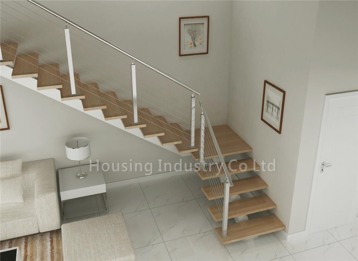 Diy Straight Staircase Solid Wood Stairs Price With Wire Railing   Stainless Steel Staircase Railing Price   Interior   Outdoor   Glass   Wooden Railing   Handrail
