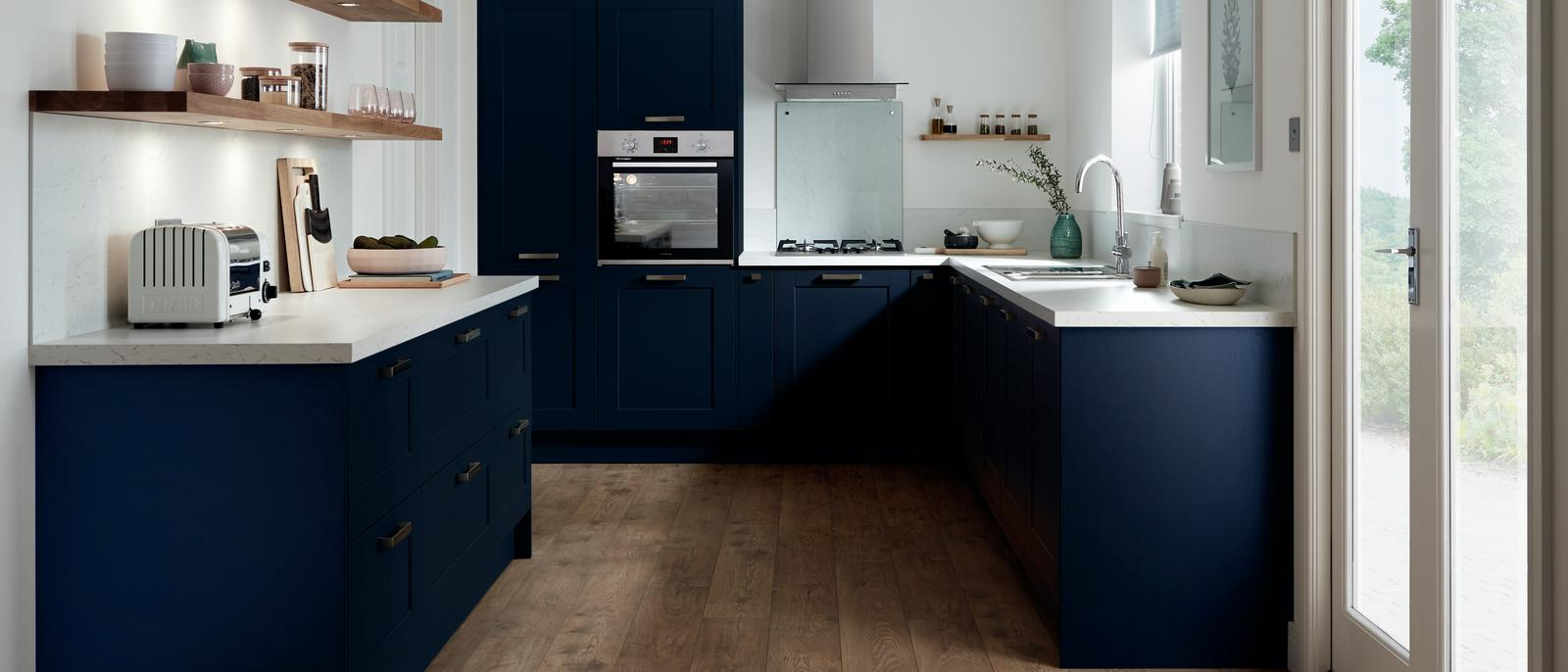 Fairford Navy Kitchen Fitted Kitchens Howdens