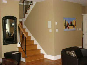 Paint job prices for your home   How much to paint a house     interior  how much it cost to paint a house picture of stairs