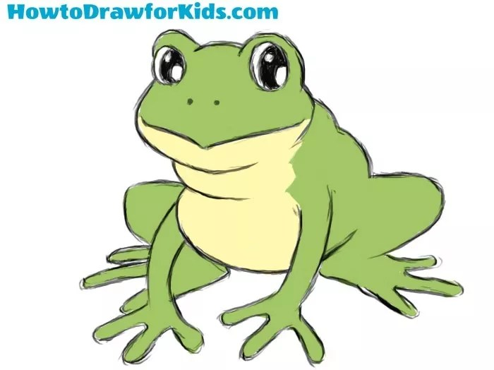 How to Draw a Frog for Kids | How to Draw for Kids