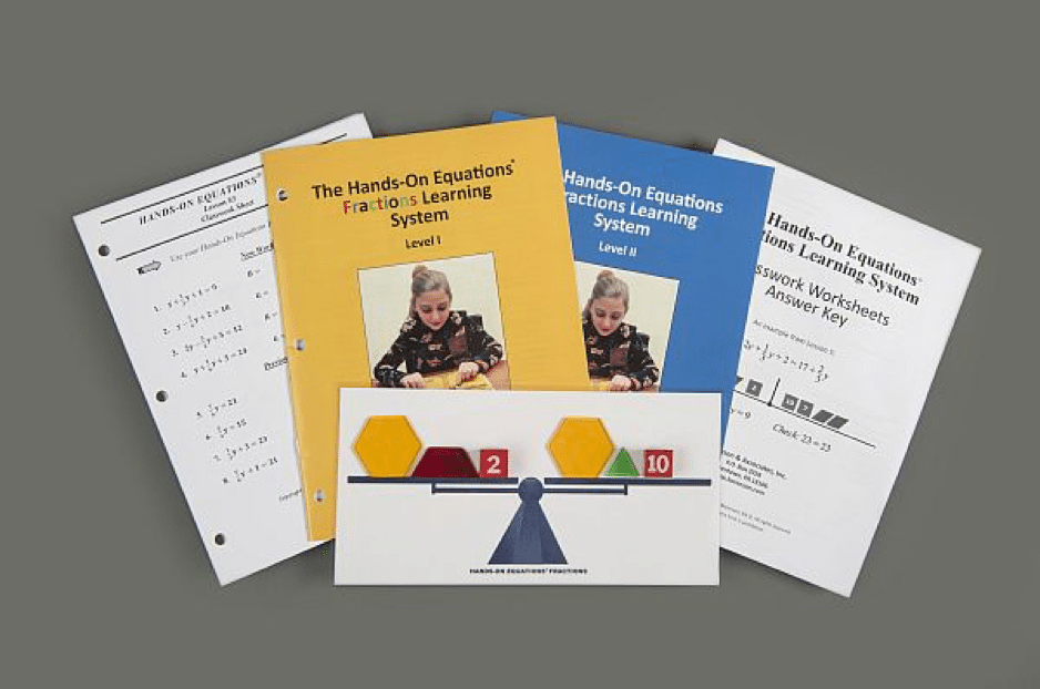 Hands On Equations Fractions Review   Homeschool Math Curriculum The Hands On Equations     Fractions Learning System Product Review