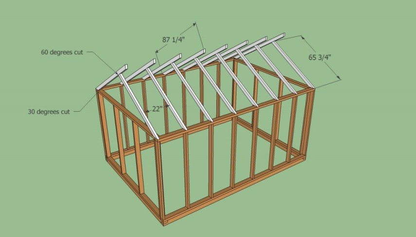 Free greenhouse plans   HowToSpecialist   How to Build  Step by Step     Greenhouse roof plans